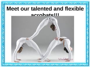 Meet our talented and flexible acrobats!!!