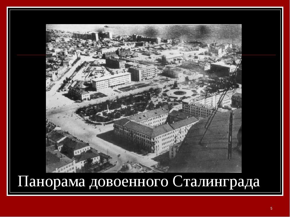 Панорама довоенного Сталинграда *