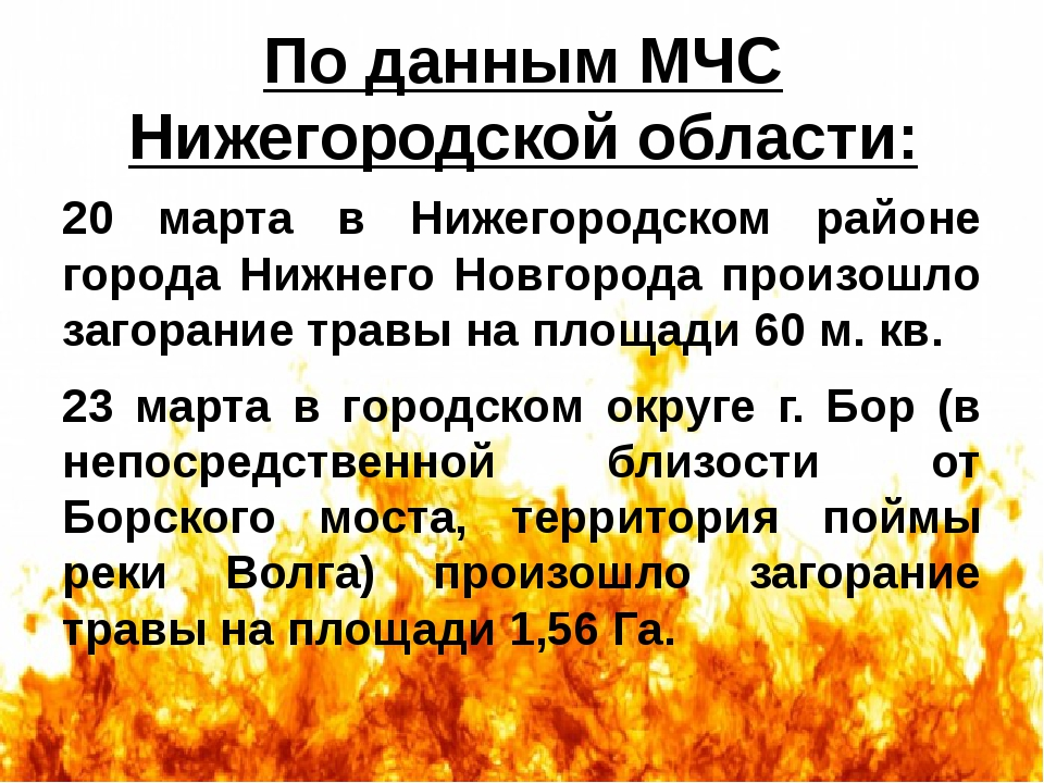 По данным МЧС Нижегородской области: 20 марта в Нижегородском районе города Н...
