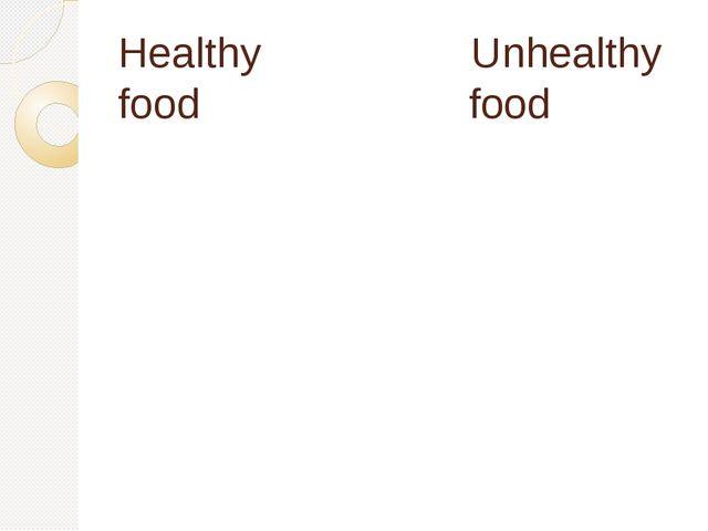 Healthy Unhealthy food food