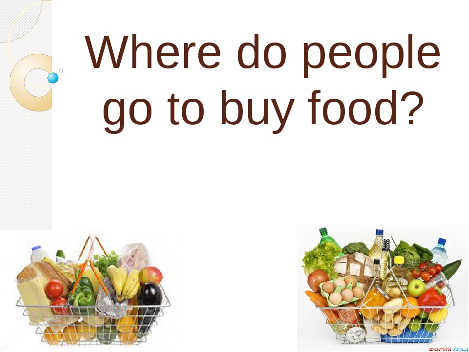 Where do people go to buy food?