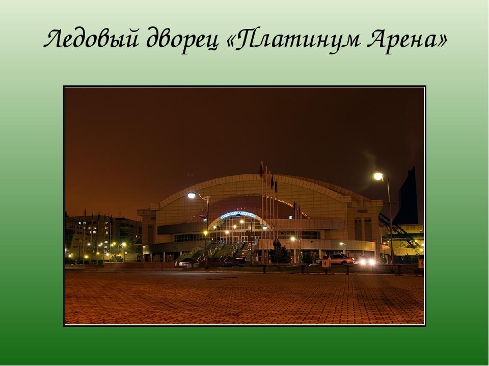 Ледовый дворец «Платинум Арена»