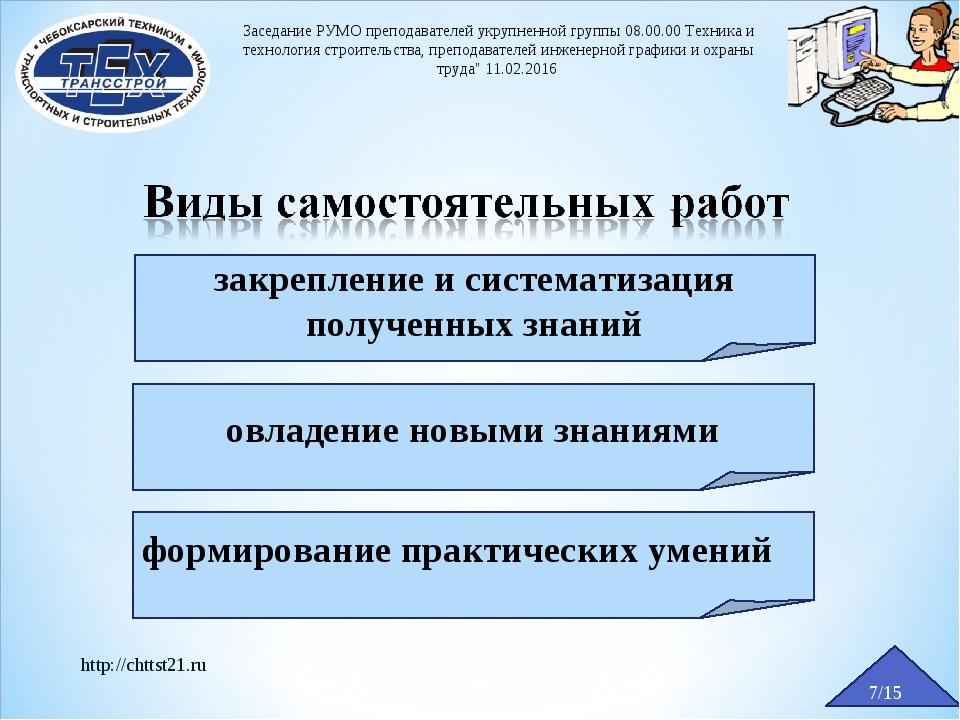 7/15 http://chttst21.ru Заседание РУМО преподавателей укрупненной группы 08.0...