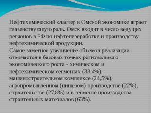 Нефтехимический кластер в Омской экономике играет главенствующую роль. Омск в