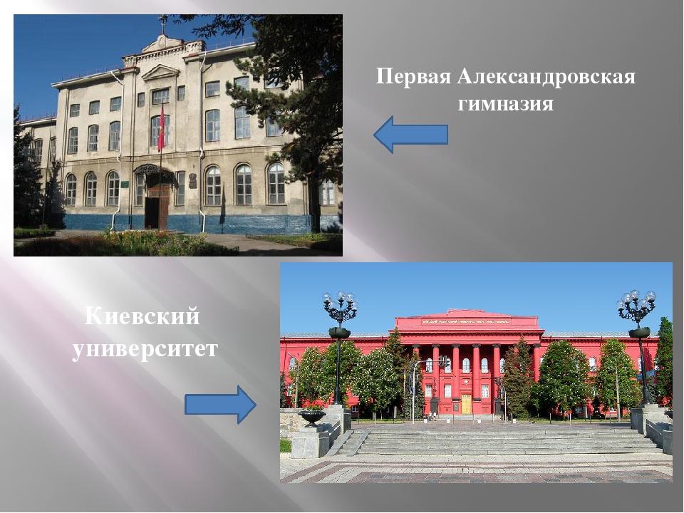 Первая Александровская гимназия Киевский университет