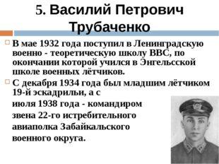 В мае 1932 года поступил в Ленинградскую военно - теоретическую школу ВВС, по