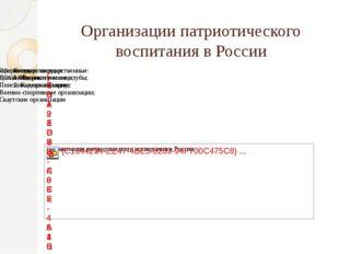 Организации патриотического воспитания в России