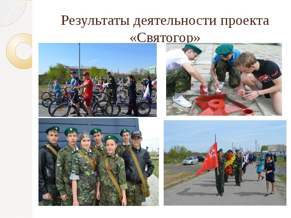 Результаты деятельности проекта «Святогор»