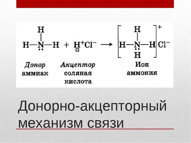 Донорно-акцепторный механизм связи