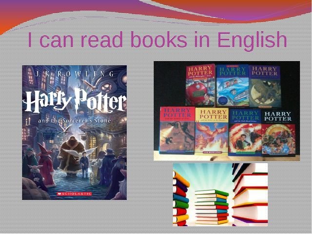 I can read books in English
