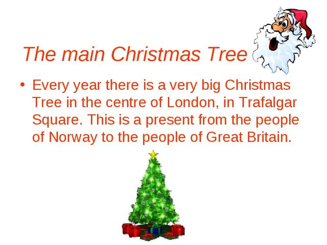 The main Christmas Tree Every year there is a very big Christmas Tree in the...