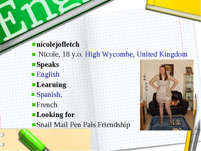 nicolejofletch  Nicole, 18 y.o.High Wycombe,United Kingdom Speaks Englis...