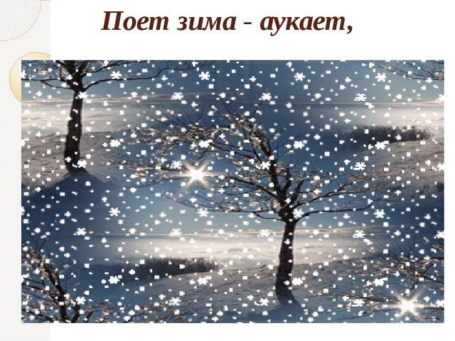 Поет зима - аукает,