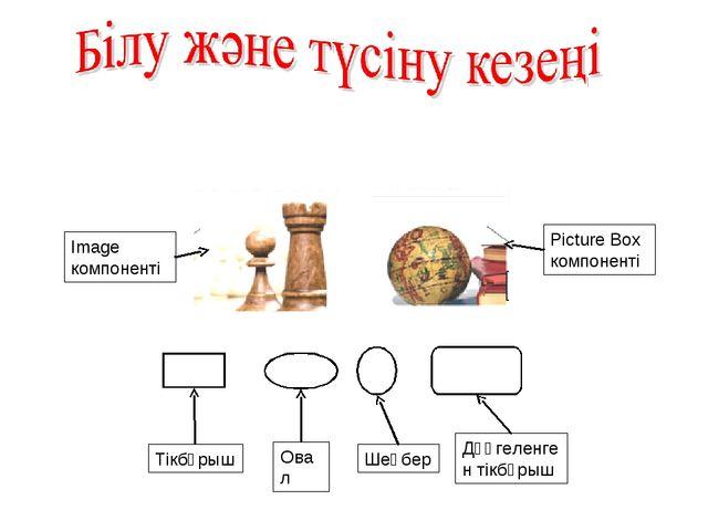 Image компоненті Picture Box компоненті Тікбұрыш Овал Шеңбер Дөңгеленген тікб...