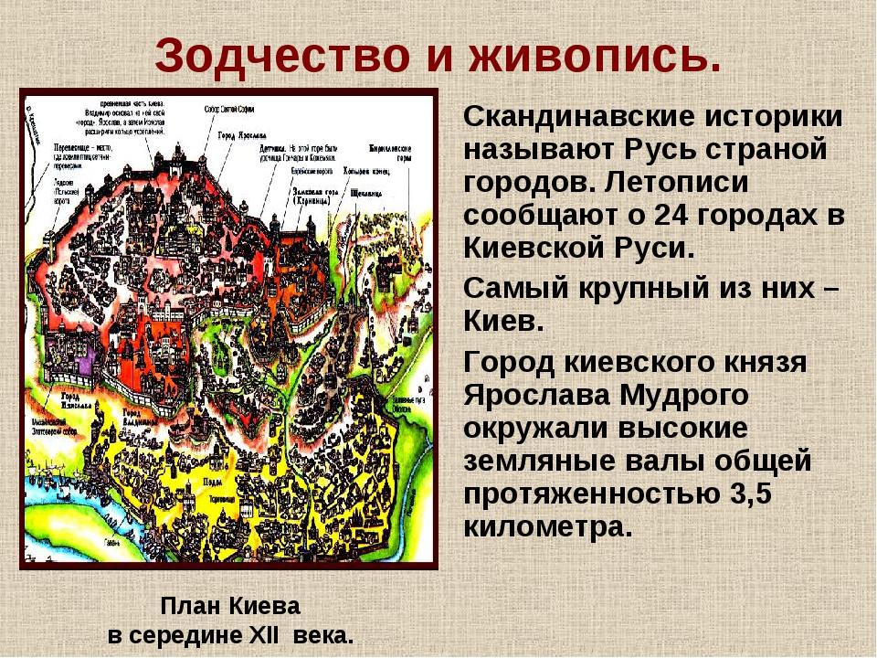 Зодчество и живопись. Скандинавские историки называют Русь страной городов. Л...