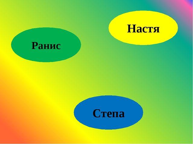 Ранис Настя Степа