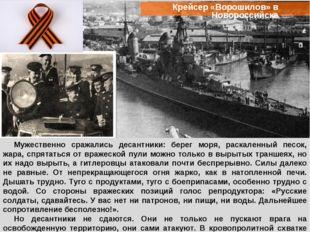 Крейсер «Ворошилов» в Новороссийске Мужественно сражались десантники: берег м