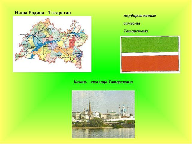 государственные символы Татарстана Казань – столица Татарстана Наша Родина -...