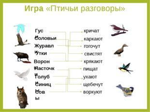Игра «Птичьи разговоры»