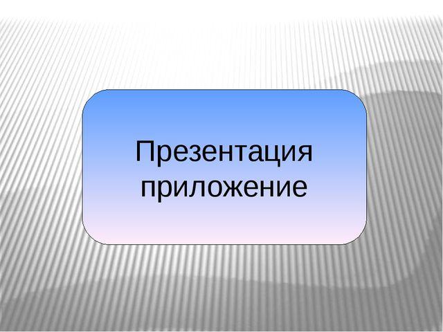 Презентация приложение