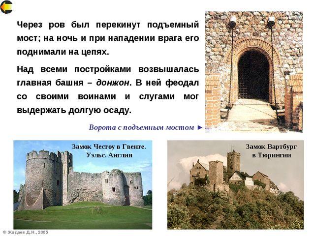 © Жадаев Д.Н., 2005 Через ров был перекинут подъемный мост; на ночь и при нап...