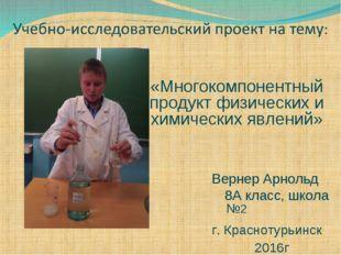 «Многокомпонентный продукт физических и химических явлений» Вернер Арнольд 8