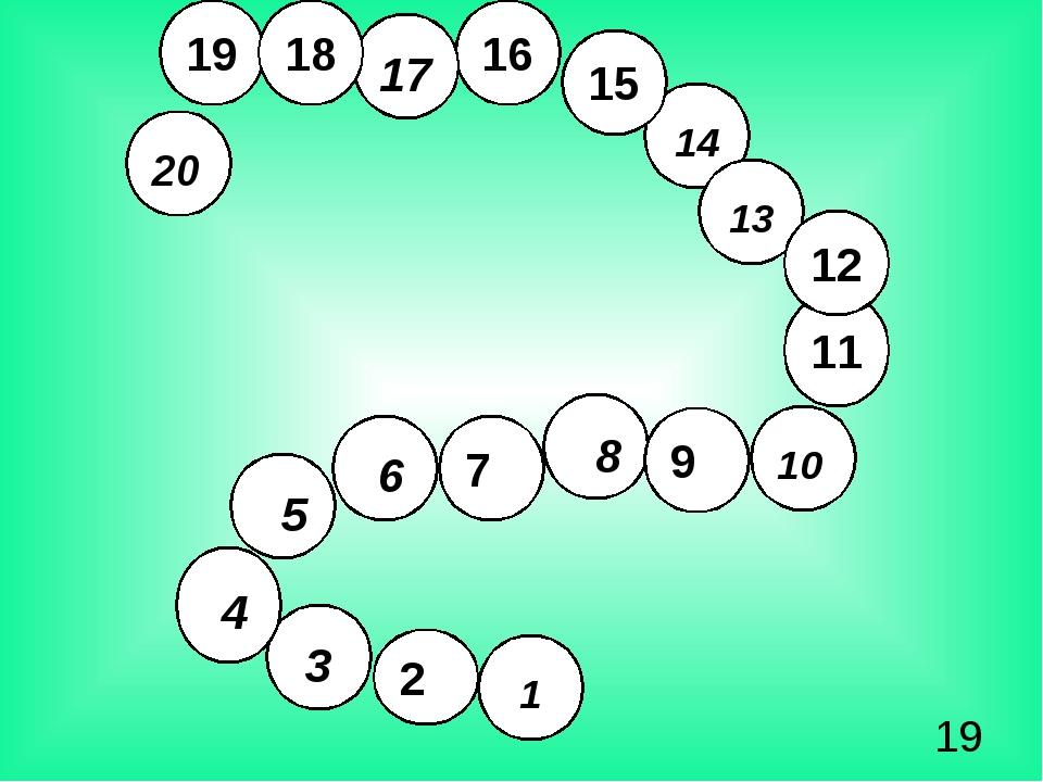 19 16 15 14 13 11 2 10 8 9 7 6 5 4 3 1 12 20 17 18 15 11 12 9 15 11 12 7 9...