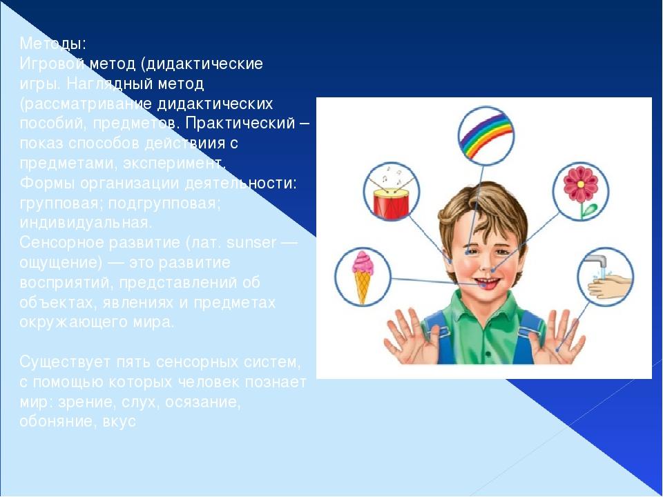 Методы: Игровой метод (дидактические игры. Наглядный метод (рассматривание ди...