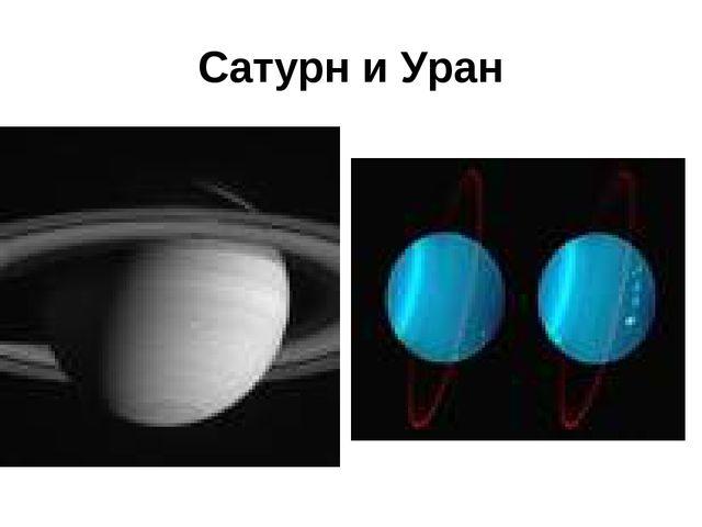 Сатурн и Уран