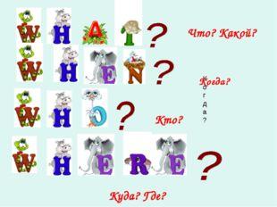 Что? Какой? Когда? Кто? Куда? Где? Когда?