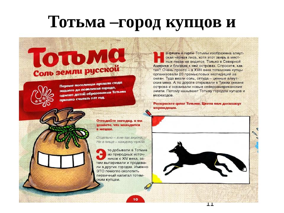 Тотьма –город купцов и мореходов