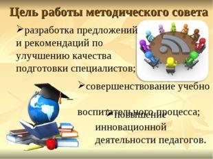 Цель работы методического совета разработка предложений и рекомендаций по улу
