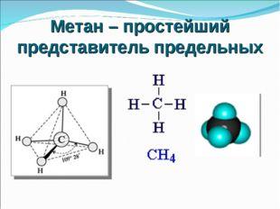 Метан – простейший представитель предельных