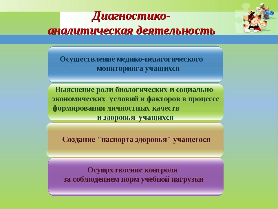 Осуществление медико-педагогического мониторинга учащихся Осуществление контр...