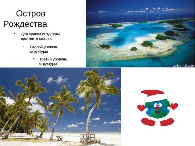Остров Рождества Для правки структуры щелкните мышью Второй уровень структур...