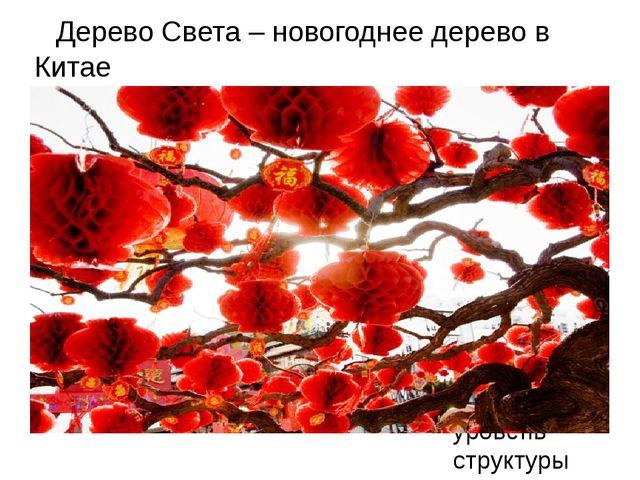 Дерево Света – новогоднее дерево в Китае Для правки структуры щелкните мышью...