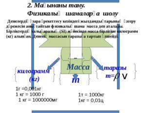 2. Мағынаны тану. Физикалық шамаларға шолу Денелердің өзара әрекеттесу кезін