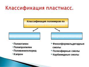 Полиэтилен Полипропилен Поливинилхлорид Капрон Классификация полимеров по отн