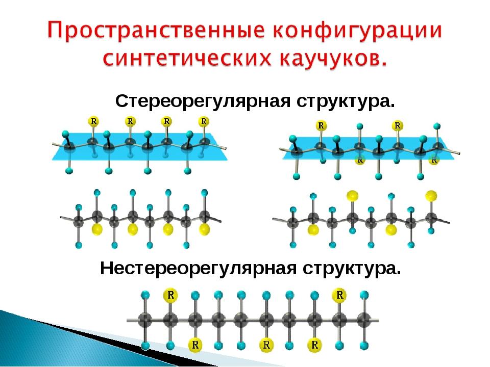 Стереорегулярная структура. Нестереорегулярная структура.