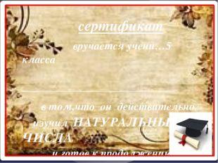 сертификат вручается учени…5 класса ____________________________ _ в том,что