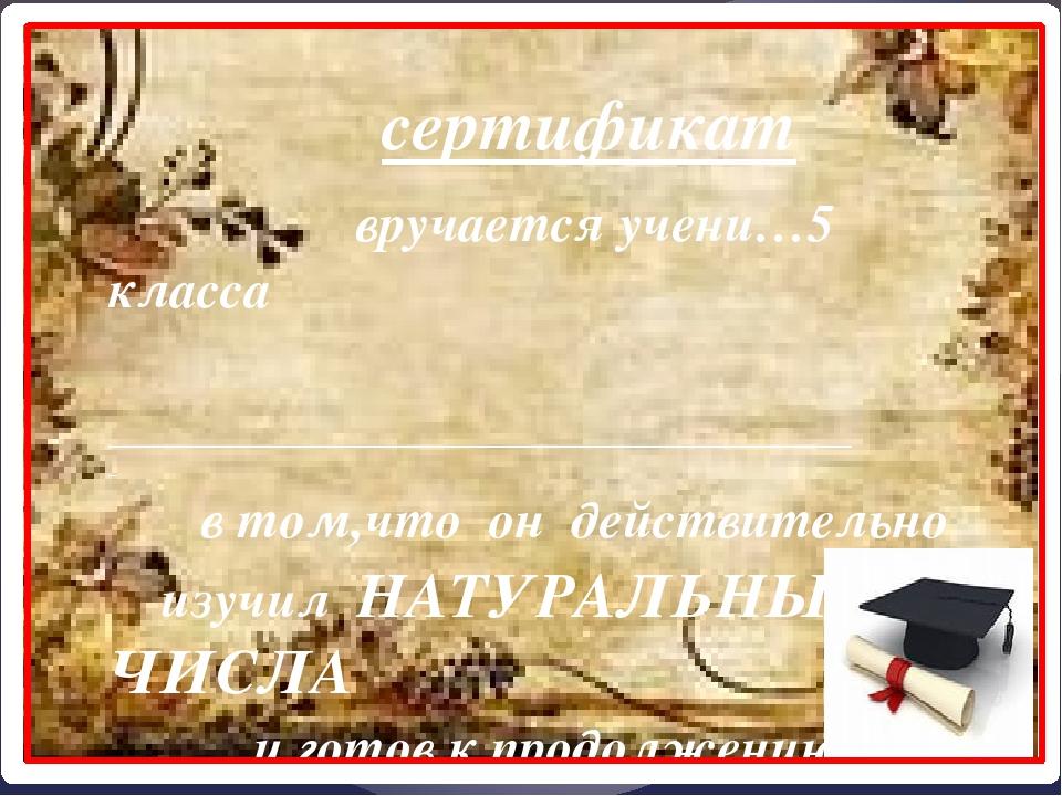 сертификат вручается учени…5 класса ____________________________ _ в том,что...