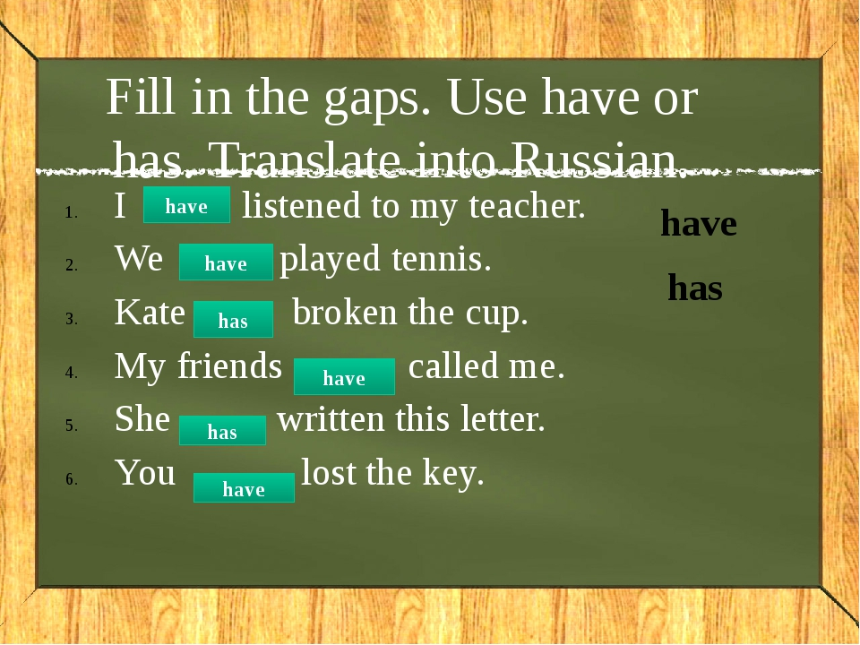 Do the sentences negative I have met many famous people. haven't Kate has don...