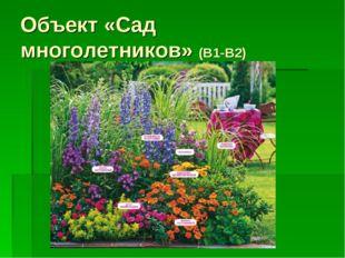 Объект «Сад многолетников» (В1-В2)