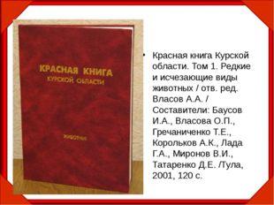 Красная книга Курской области. Том 1. Редкие и исчезающие виды животных / отв