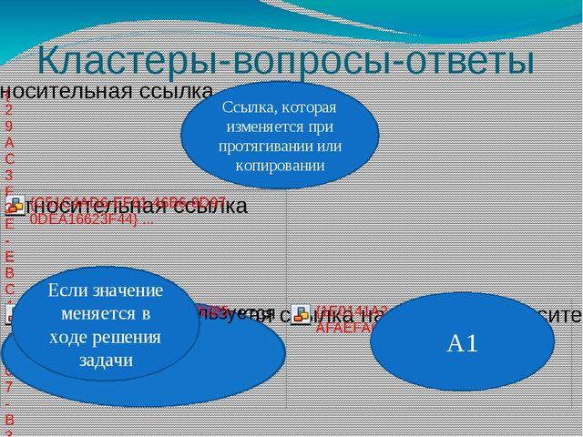 Кластеры-вопросы-ответы Если значение меняется в ходе решения задачи Ссылка,...