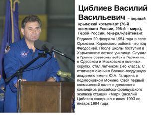 Циблиев Василий Васильевич – первый крымский космонавт (76-й космонавт Росси