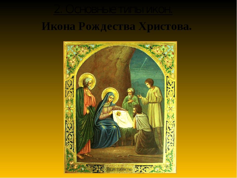 Икона Рождества Христова. 2. Основные типы икон.