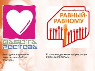 Молодежное движение милосердия «Забота Ростова» Ростовское движение добровол