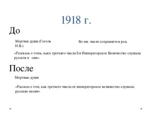 1918 г. До «Разсказъ о томъ, какъ третьяго числа Ея Императорское Величество