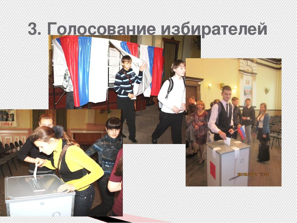 3. Голосование избирателей